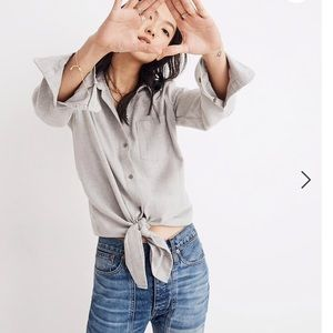 🆕🏷 Madewell Tie-Up Flannel Top